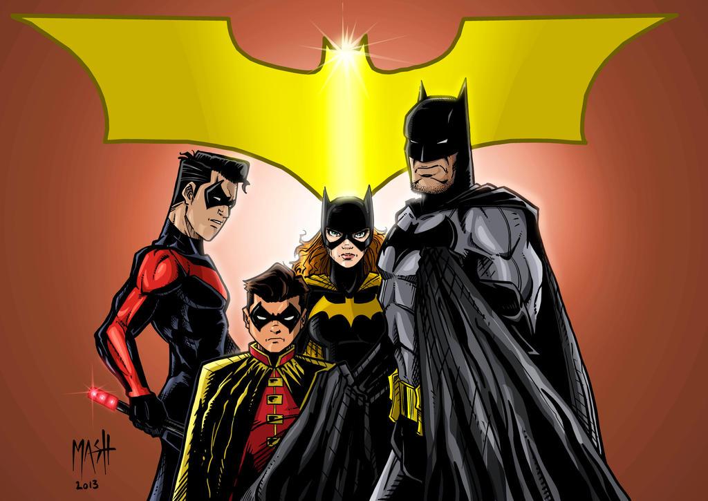 Batman Family (colors) by Rexbegonia
