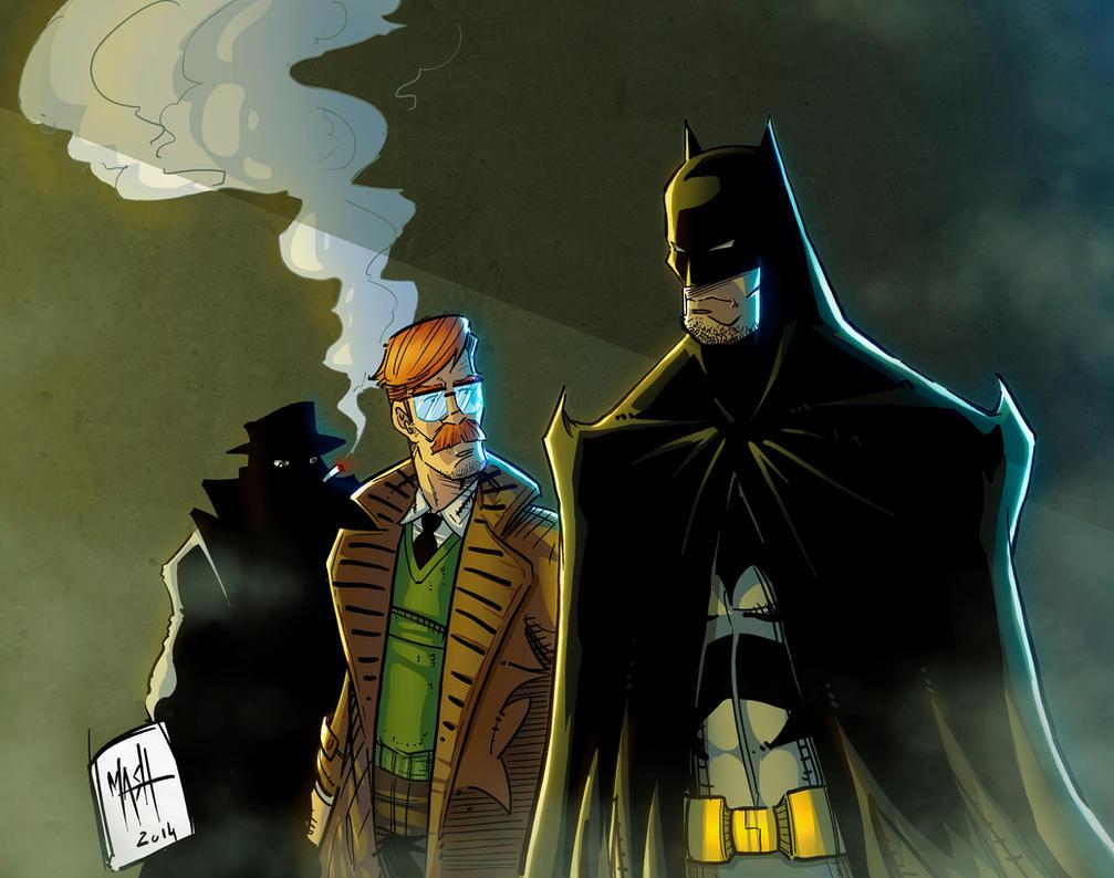 Batman and Gordon by Rexbegonia