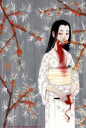 Kuchisake-onna by InkYami