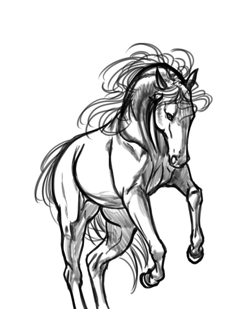 Horse sketch by siwsen
