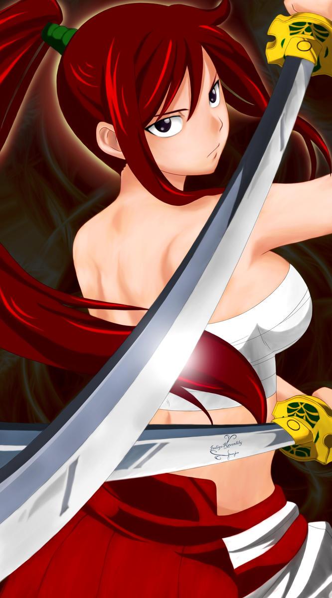 Erza Scarlet by IndigoRavenlily