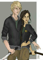 Hunger Games:Katniss and Peeta by Bleunite