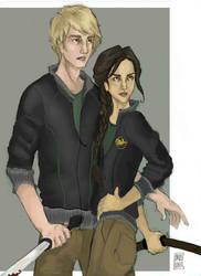 Hunger Games:Katniss and Peeta by Bleunite