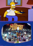 Homer is watching The Muppet Show