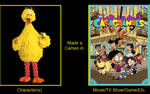 What if Big Bird made a cameo on The Casagrandes by PlanktonRock900
