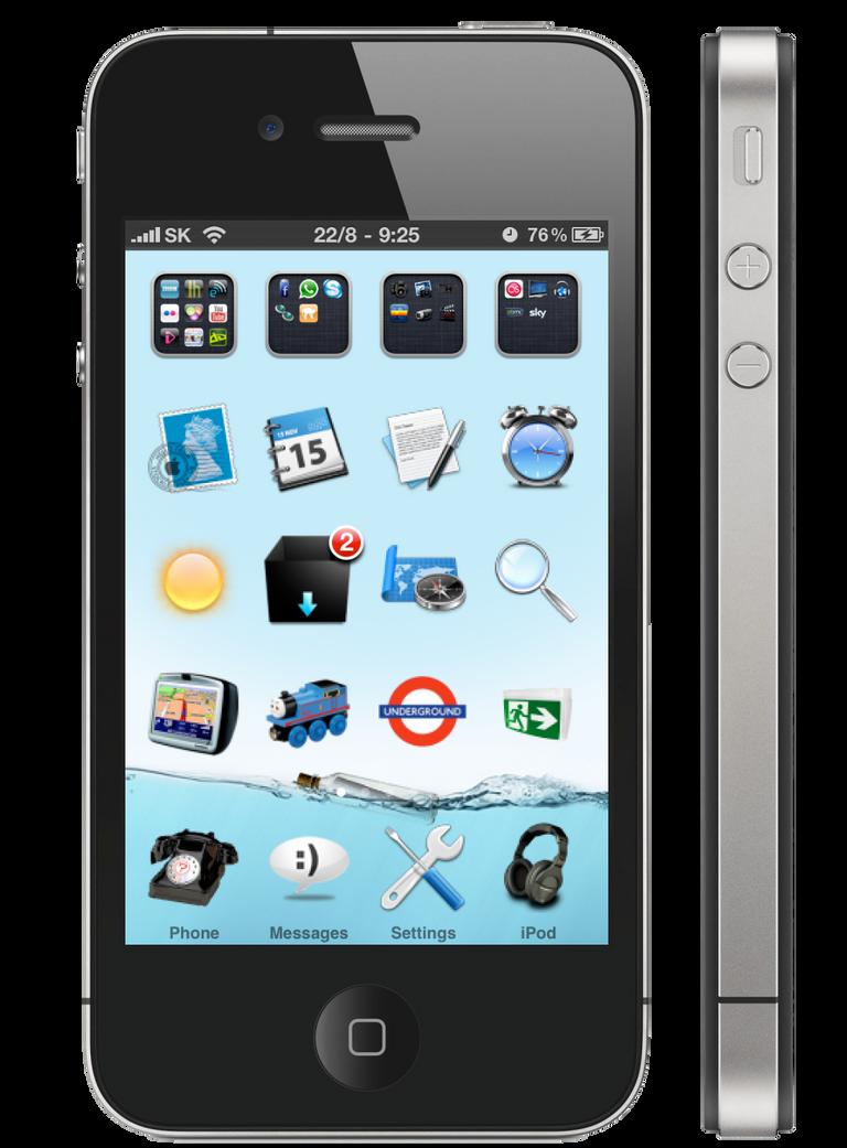iPhone 4 Ocean Theme by Simieski