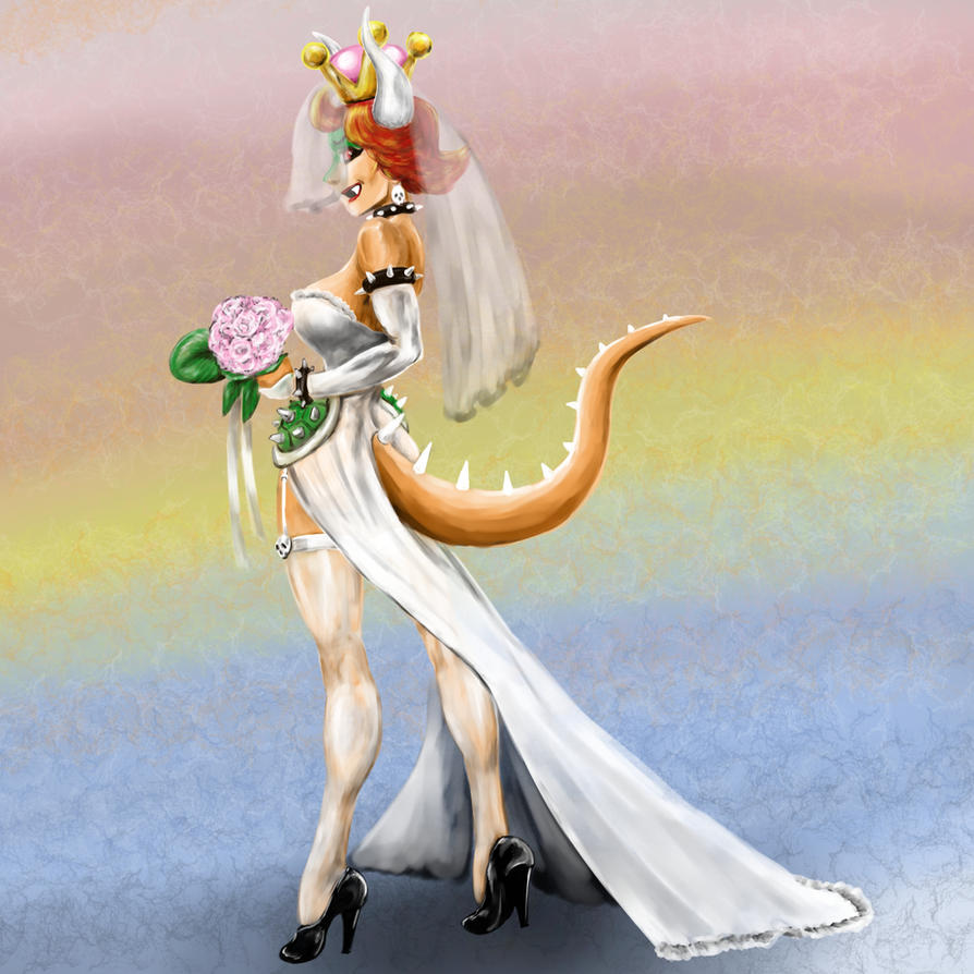 Bowsette Wedding Dress by Dr-Destruction