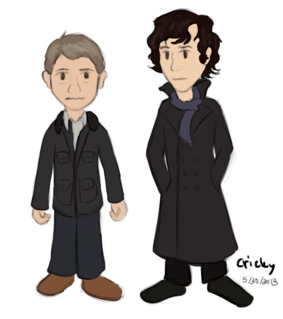 John and Sherlock by Cricky-Vines