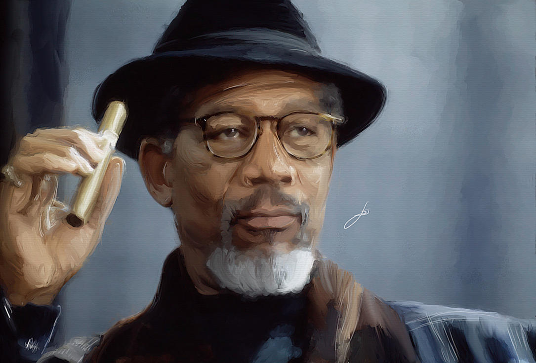 [Progresso da Pintura] - GjfTdc Morgan_freeman____test_by_painteria-d8uncj1