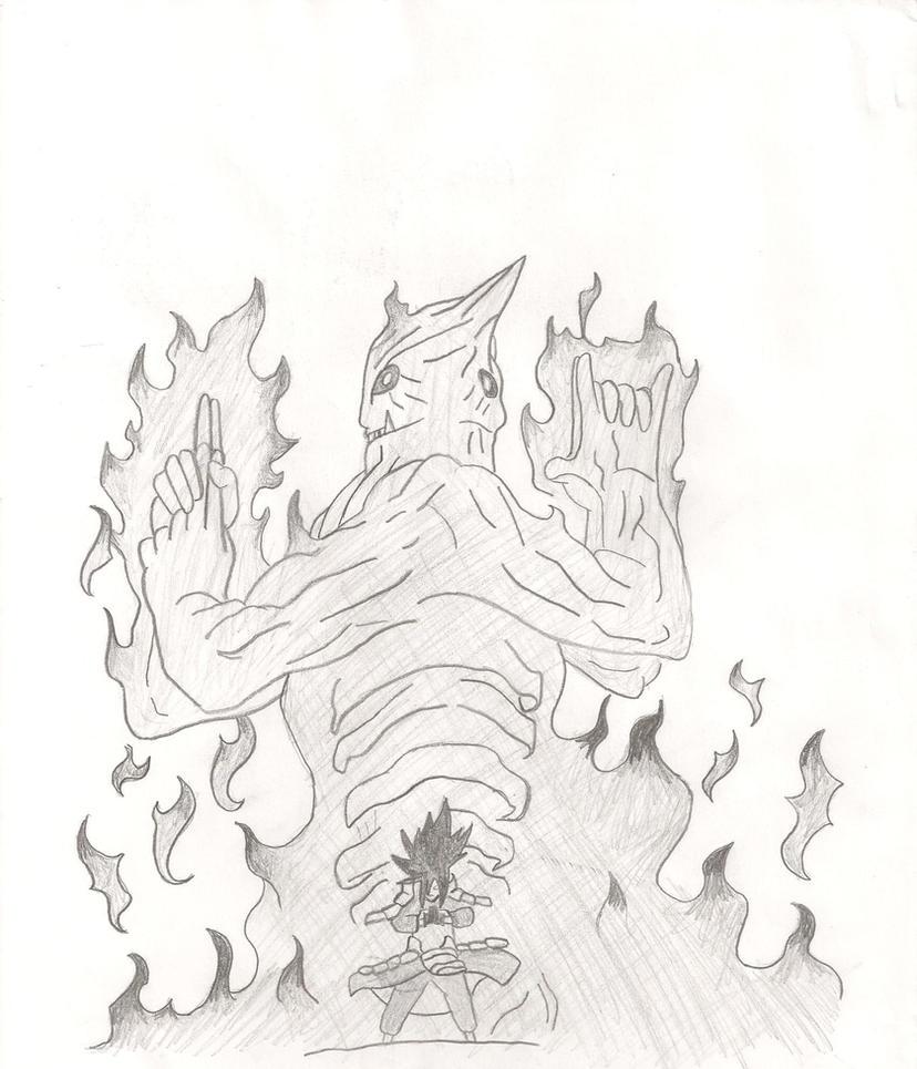 madara's susano... Madara Uchiha Susanoo Drawing