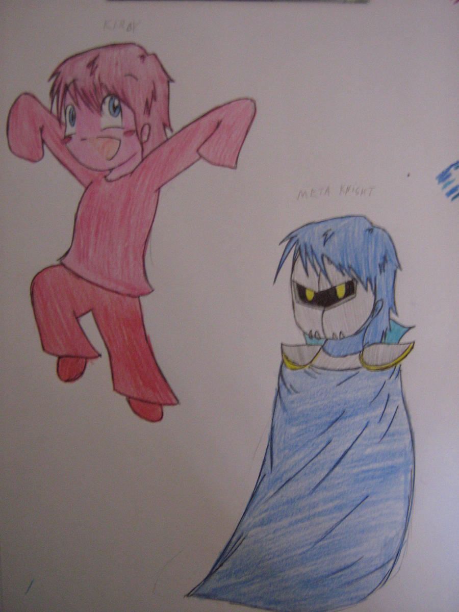 Human Kirby and Meta Knight by Linadoon on DeviantArt