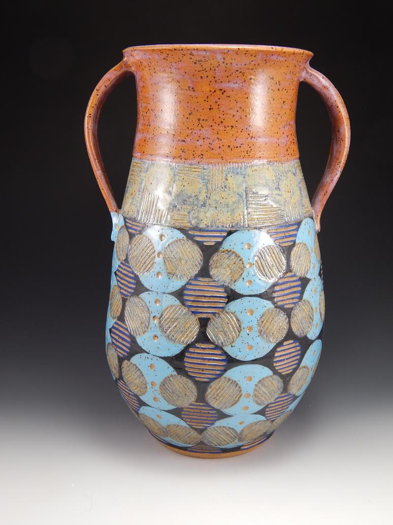 Big Circles Vase (1) by firenfluxhandmade