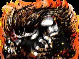 Okra, The Demon Saiyan Unleashed