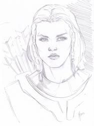 Skyrim's Lydia, sketch