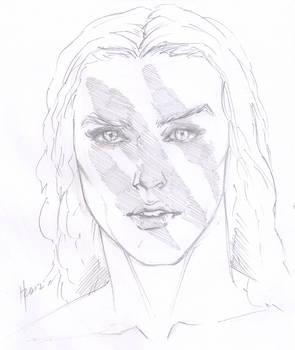 Skyrim's Aela, sketch