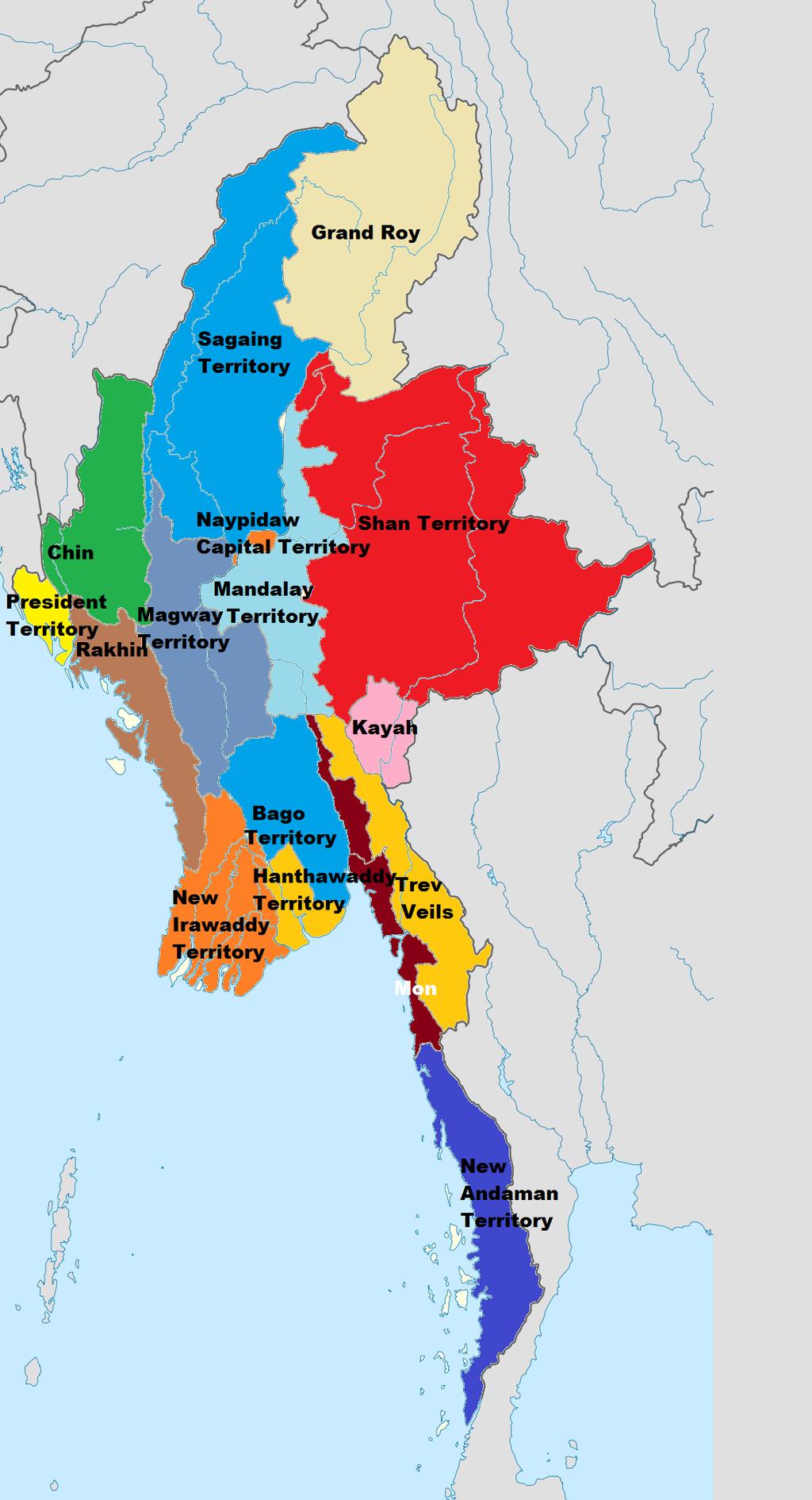 Myanmar - Divisions and States - Myanmar | ReliefWeb