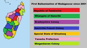 First Balkanization of Madagascar