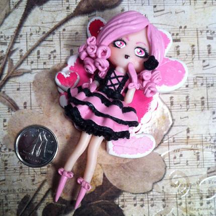 Pink Heart Lolita Charm by Lunnie