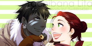 Couple Roegadyn and Hyuran for Justgetitoverwith