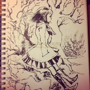 Hude pen sketch