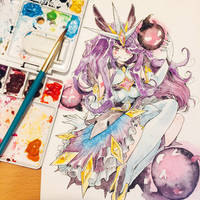 Star Guardian Syndra / LoL Requested by bearfromsp by lita426t