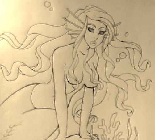 Mermaid sketch 1/2 by EmmaMcAuslin666