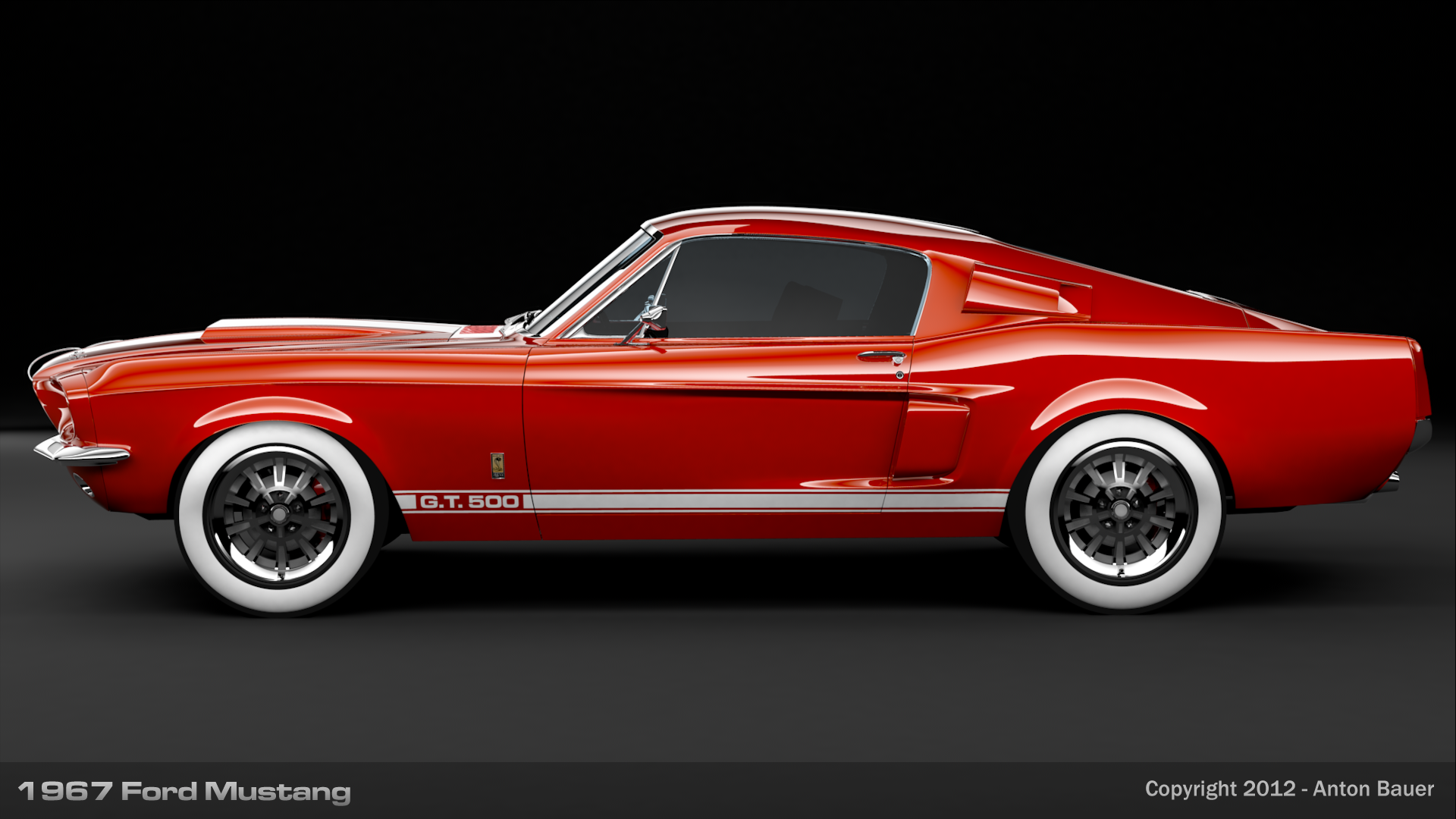 1967 ford mustang side view by abanimation on deviantart. Black Bedroom Furniture Sets. Home Design Ideas