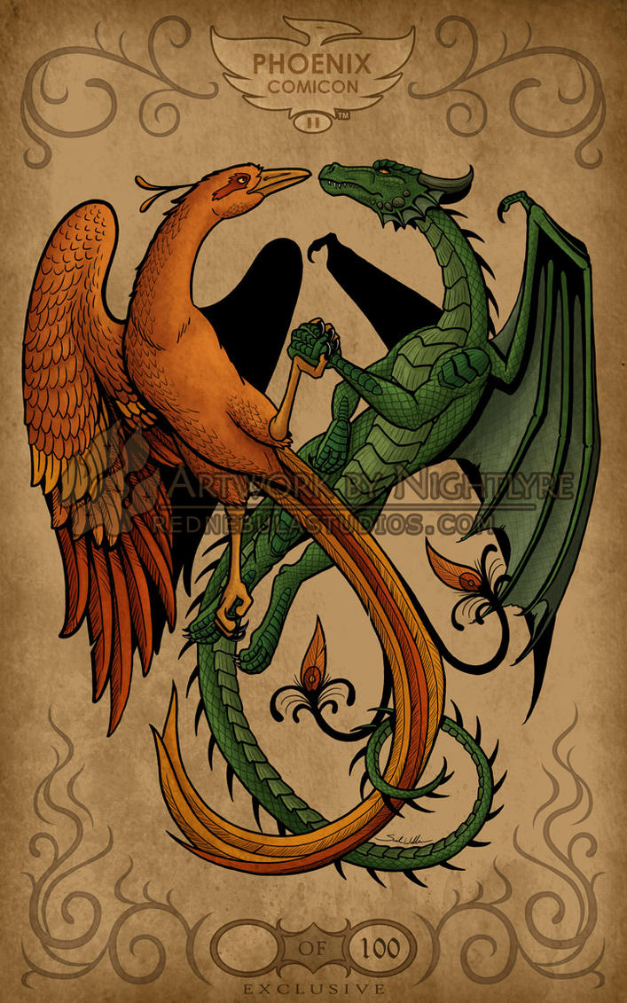 The Phoenix and the Dragon by Nightlyre on deviantART