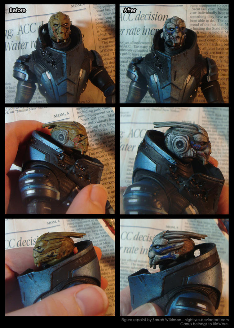 Mass Effect: Garrus Action Figure Repaint by Nightlyre