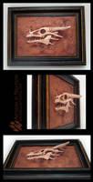 Fossil Dragon Skull Sculpture by Nightlyre