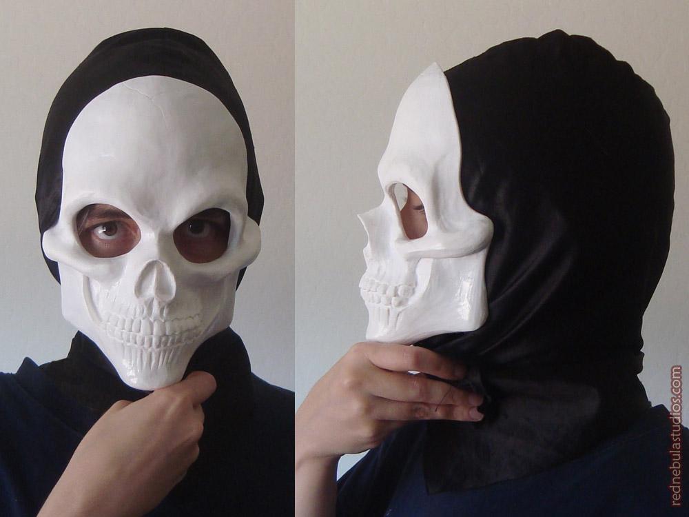 Human Skull Resin Mask - Blank Version by Nightlyre