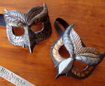 Painted Resin Owl Masks