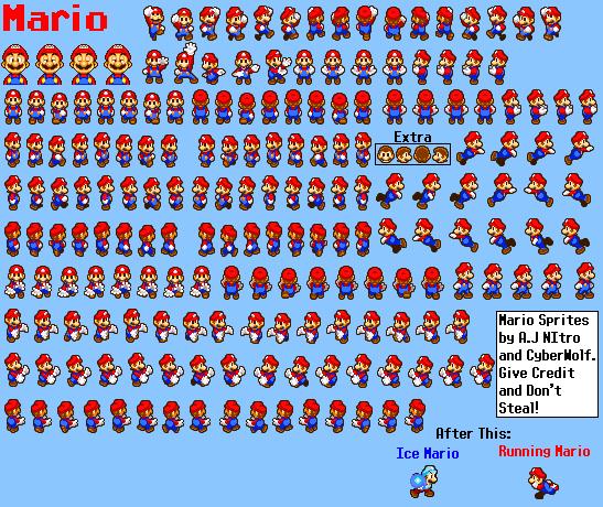 GalleryMario sprites and models  Super Mario Wiki the