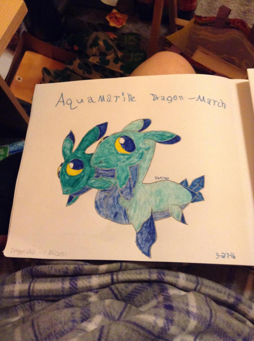 Aquamarine Dragon - DragonVale by FlamingGatorGirl