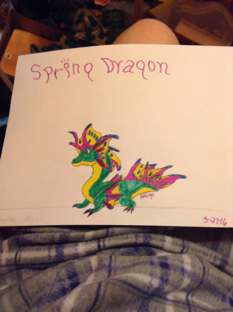 Spring Dragon - DragonVale by FlamingGatorGirl