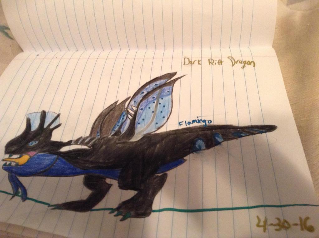 Dark Rift Dragon - DragonVale by FlamingGatorGirl