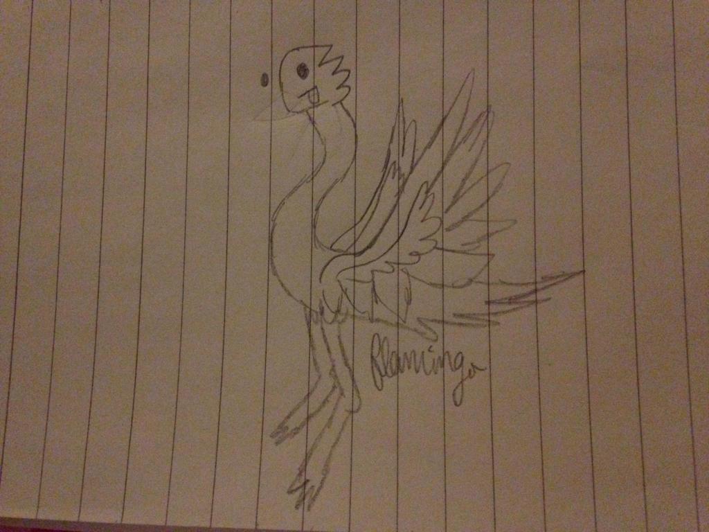 Derpy Flamingo by FlamingGatorGirl