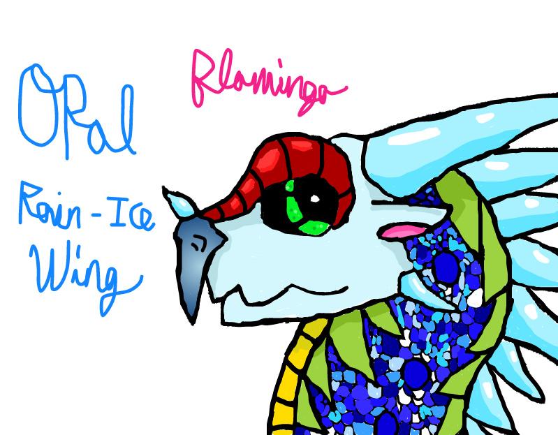 Opal the Rain/IceWing by FlamingGatorGirl