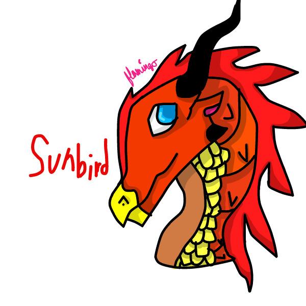 Sunbird Headshot by FlamingGatorGirl