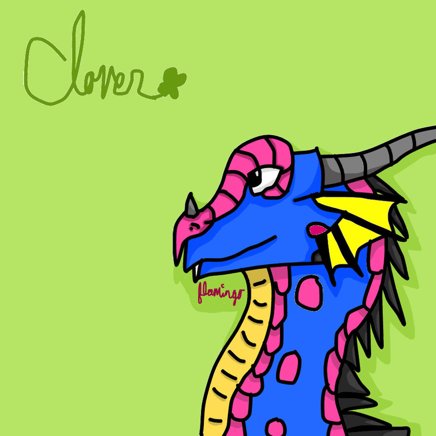 Clover the RainWing by FlamingGatorGirl