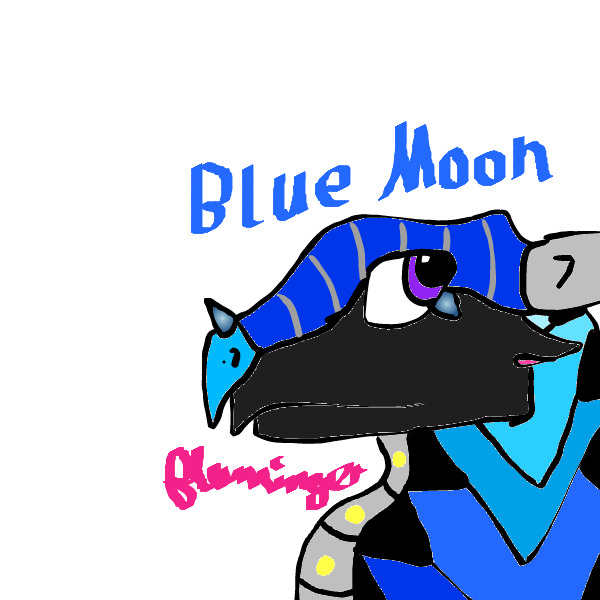 Blue Moon Pen Font Lined by FlamingGatorGirl