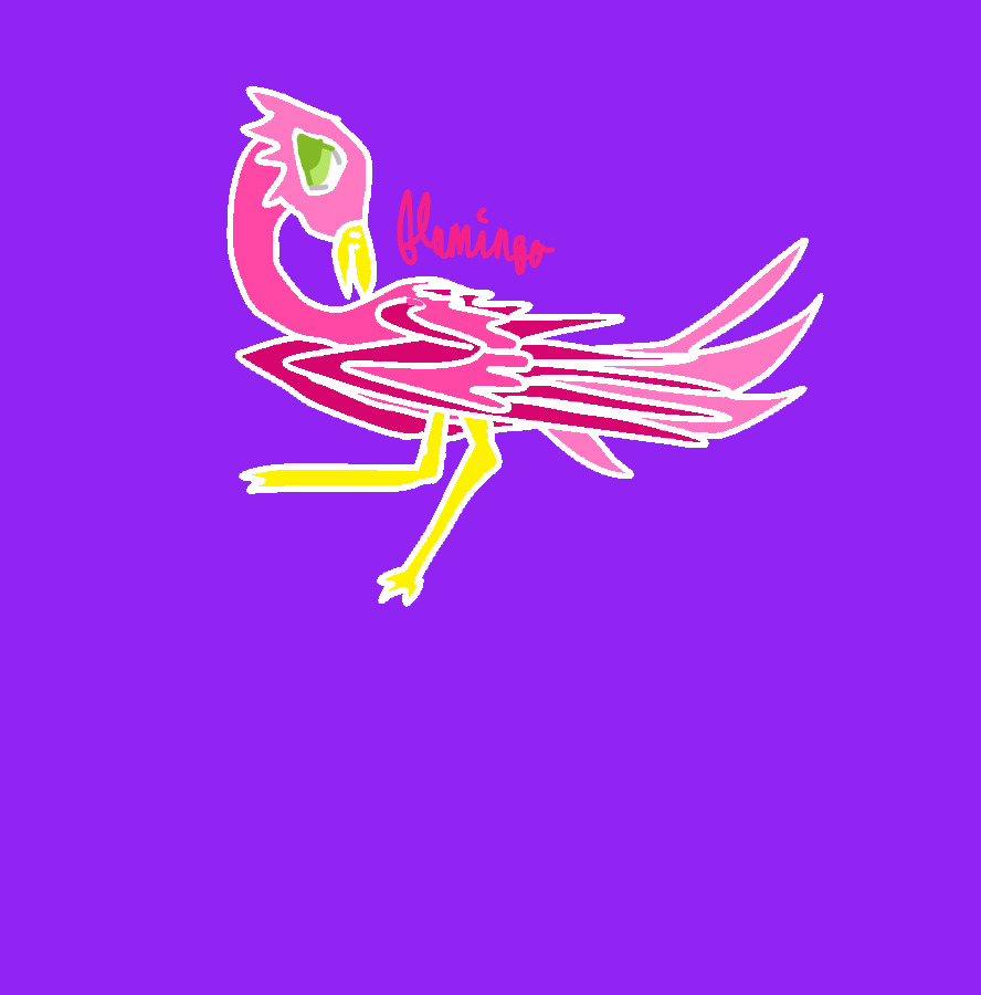 Lineless Flamingo by FlamingGatorGirl
