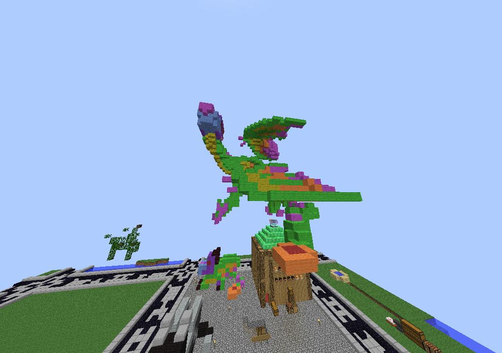 Minecraft Allison statue by FlamingGatorGirl