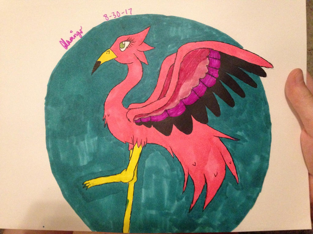 Flamingo birb by FlamingGatorGirl