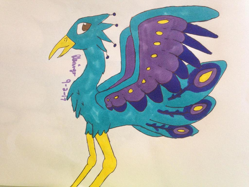 Another peacock birb by FlamingGatorGirl