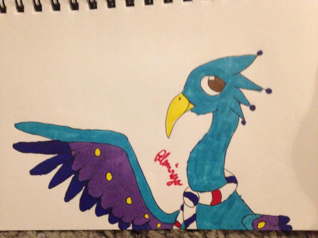 Unnamed peacock Oc by FlamingGatorGirl