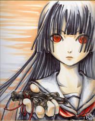 Enma Ai . jigoku shoujo by Kyie-hamster