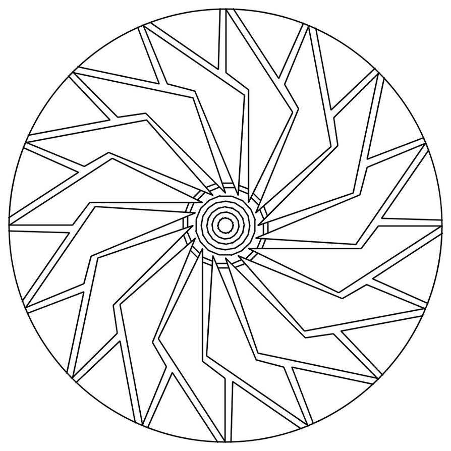 Easy intricate design coloring pages