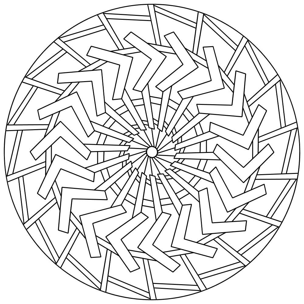 Mandala 132 by sadadoki on deviantart for Mandala design coloring pages