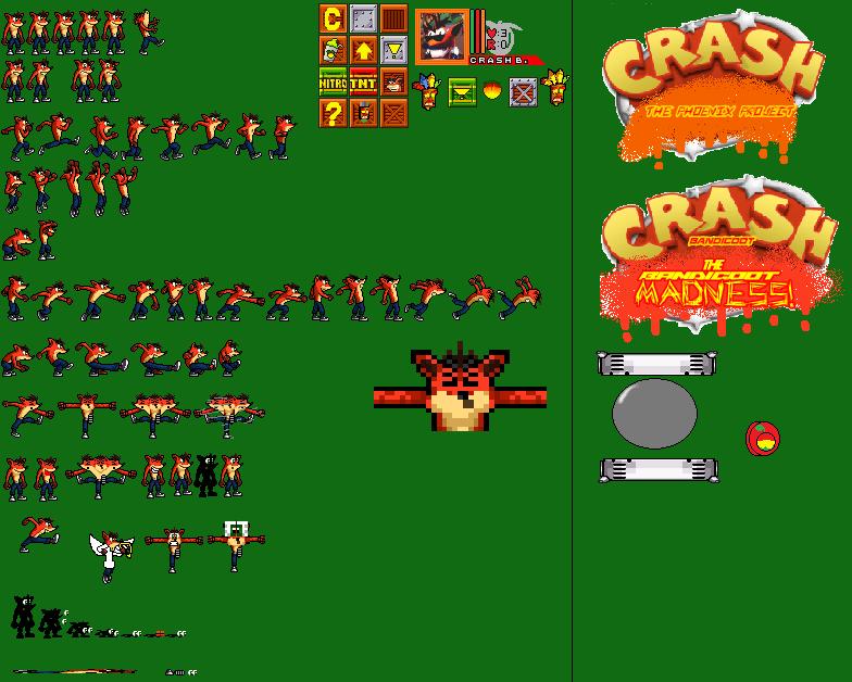 Crash Bandicoot Sprite Sheet By Alexandremedeiros9 On